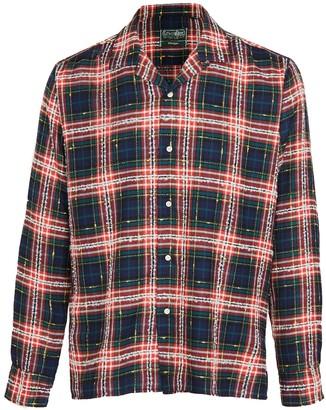 Gitman Brothers Archive Fluro Plaid Camp Collar Shirt