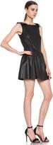 RED Valentino Nappa Leather Tank Dress in Black