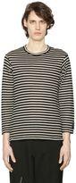 Yohji Yamamoto Striped Wool Jersey Long Sleeve T-Shirt