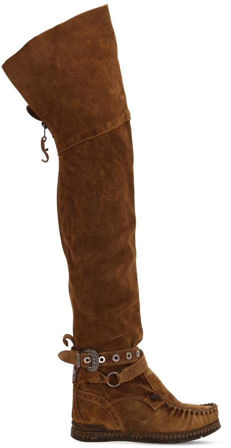 EL VAQUERO 70mm Maleficent Suede Over-The-Knee Boot