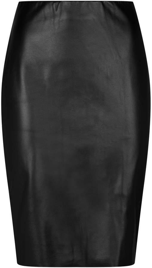 d0d68758b4 Faux Leather Pencil Skirt - ShopStyle
