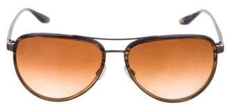 Barton Perreira Aviator Gradient Sunglasses