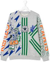 Kenzo teen multi-print sweatshirt