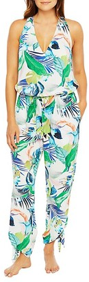La Blanca In The Moment Tropical-Print Jumpsuit