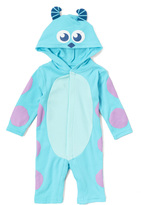 Children's Apparel Network Blue Monsters Inc. Playsuit - Infant