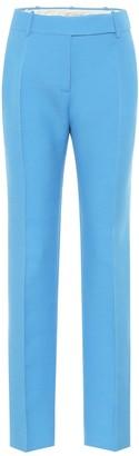 Valentino high-rise slim wool and silk pants