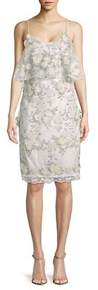 Badgley Mischka Floral Sheath Dress