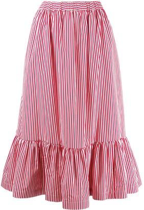 COMME DES GARÇONS GIRL Striped Midi Skirt
