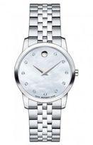 Movado Diamond & Stainless Steel Watch