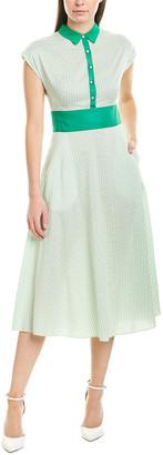 Lela Rose Silk-Blend Shirtdress