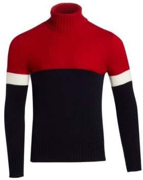 Ralph Lauren Purple Label Color Block Cashmere Turtleneck
