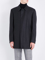 Canali Pindot-patterned wool coat