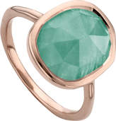 Monica Vinader Siren 18ct rose gold vermeil and amazonite medium stacking ring