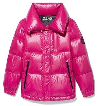 MICHAEL Michael Kors Puffer Coat Hot Pink