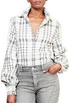 Lauren Ralph Lauren Plaid Bishop-Sleeve Shirt