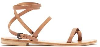 Álvaro González Anna Wraparound Leather Sandals - Womens - Tan