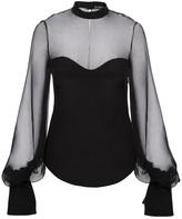 Alexander McQueen sheer yoke blouse