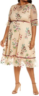 Kiyonna Wildflower Embroidered Dress