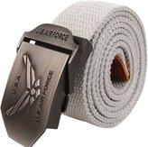 "NiSeng Mens Military Style Canvas Web Belt Solid 47.2"" Adjustable"
