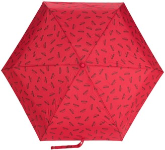 Moschino Logo Printed Umbrella