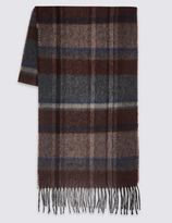 Marks and Spencer Pure Wool Checked Scarf