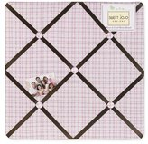 JoJo Designs Pink and Chocolate Teddy Bear Girls Fabric Memory/Memo Photo Bulletin Board by Sweet