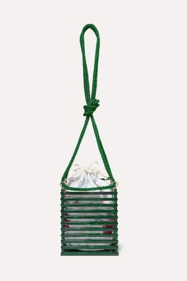 Montunas Vanda Acetate And Silk-satin Shoulder Bag - Green