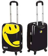 "PB Travel Smiley 22"" Spinner Luggage with TSA Lock - Black"