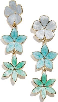 BaubleBar Ombre Flower Statement Triple Drop Earrings