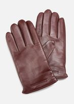 Emporio Armani napa leather and wool gloves