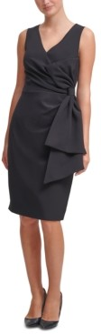 Jessica Howard Bow-Detail Scuba-Crepe Sheath Dress