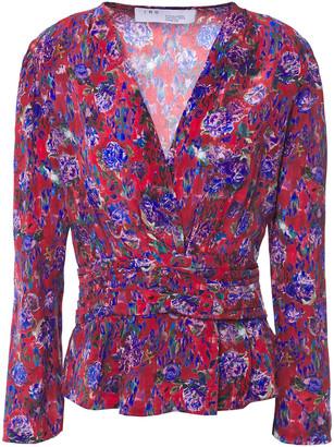 IRO Hurl Floral-print Silk Crepe De Chine Top