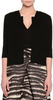 Piazza Sempione Elbow-Sleeve Slim-Fit Cardigan, Black