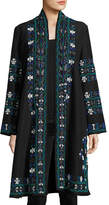 Figue Martina Embroidered Cotton Jacket, Blue/Multi
