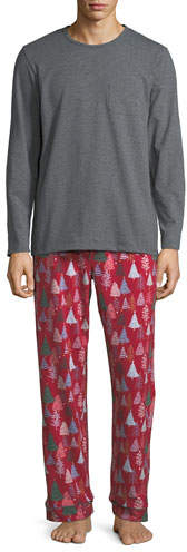 BedHead Men's Family Christmas Tree Pajama Set