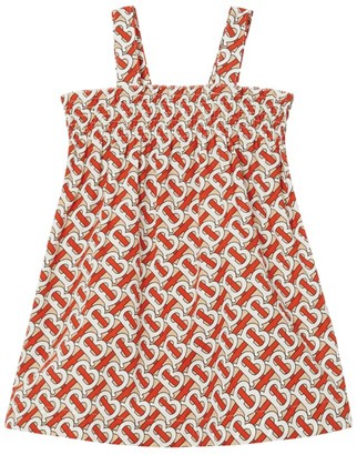 Burberry Kids Smocked TB Monogram Print Dress (6-24 Months)