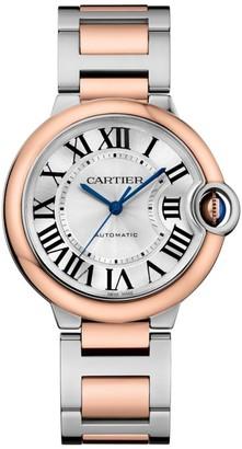 Cartier Ballon Bleu de 18K Rose Gold & Stainless Steel Bracelet Watch/36MM