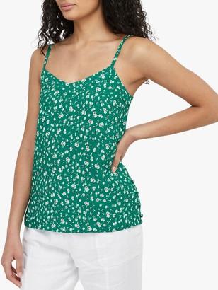 Monsoon Poppy Print Cami Top, Green/Multi