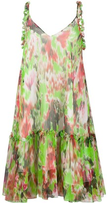 MSGM Abstract-Print Knee-Length Dress