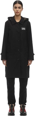Burberry Mylon Long Hooded Rain Coat