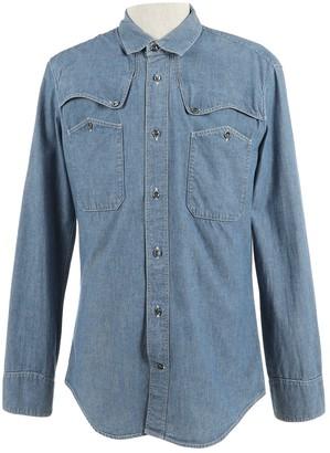 Balenciaga Blue Cotton Shirts