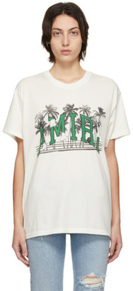 Amiri White Varsity Palms T-Shirt