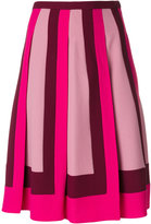 Valentino geometric panelled skirt - women - Acetate/Viscose - 38