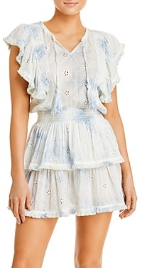 Surf.Gypsy Cotton Eyelet Mini Dress Cover Up