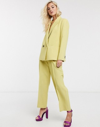 Topshop double breasted blazer co-ord in lime