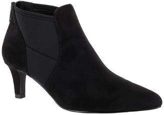 Easy Street Shoes Womens Saint Zip Pointed Toe Booties