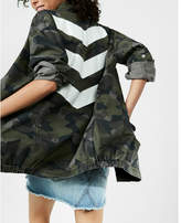 Express oversized chevron camo print jacket