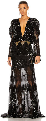 Raisa Vanessa RAISA&VANESSA Embellished Maxi Dress in Black   FWRD