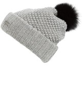 Burberry Women's Wool & Cashmere Beanie With Genuine Fox Fur Pom - Grey