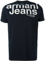 Armani Jeans printed logo T-shirt - men - Cotton/Spandex/Elastane - S